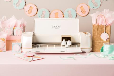 Cricut Explore Air™ 2 Martha Stewart machine in metallic pearl white (Photo: Business Wire)
