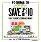 Food Lion Customers Can Save Up to $10 When They Buy Private Brand Products April 4-April 24 (Graphic: Business Wire)