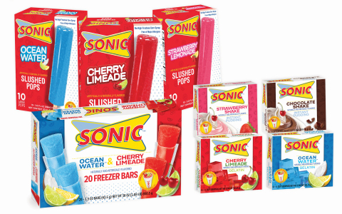SONIC Drive-In's new Frozen Ice Pops, Gelatins and Puddings (Photo: Business Wire)