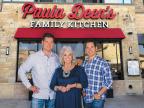 Jamie Deen, Paula Deen, Bobby Deen - Paula Deen's Family Kitchen Opens in Fairview, Texas (Photo: Business Wire)