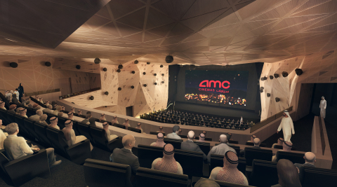 Interior rendering of a movie theatre auditorium in the first movie theatre in the King Abdullah Financial District in Riyadh. (Photo: Business Wire)