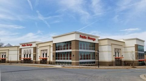 Public Storage at 10219 Bryton Corporate Center Dr. in Huntersville, NC 28078 opened this week with nearly 900 available spaces to serve the fast-growing suburb of Charlotte, North Carolina. (Photo: Business Wire)