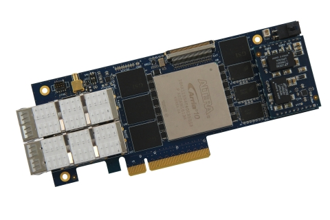 The XpressGXA10-LP1150 is a Low Profile Arria10 GX PCIe board which provides to customers an off-the ...