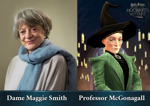 Dame Maggie Smith在Jam City出品的《哈利波特:霍格華茲之謎》中為McGonagall教授配音(照片:美國商業資訊)