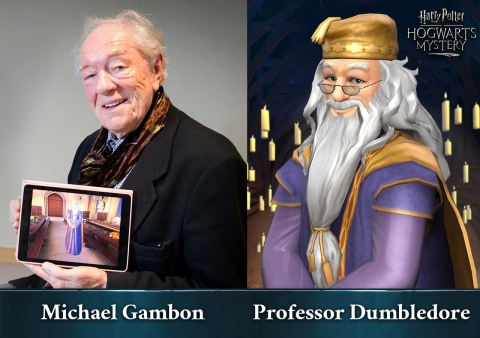 Michael Gambon as Professor Dumbledore, in Harry Potter: Hogwarts Mystery from Jam City (Photo: Business Wire)