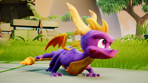 The Spyro™ Reignited Trilogy, launching on Sept. 21, introduces players to a completely remastered game collection with a re-imagined cast of characters, brand-new lighting, animations, environments, and recreated cinematics—all in stunning HD. (Graphic: Business Wire)