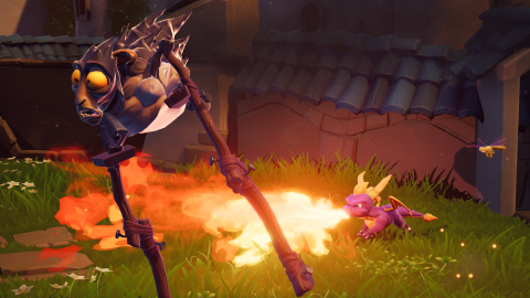 "Spyro has been unleashed!  He's all scaled up and ready to flare up some bad guys in Spyro™ Reignited Trilogy, a dynamic gaming collection that's going to have fans ""Spyro-ing"" out of control on Sept. 21! (Graphic: Business Wire)"