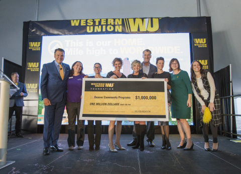 The Western Union Foundation commits $250,000 strategic funding to support Denver Public Schools as part of a $1 million funding pledge made last October, in support of local community programs throughout Denver. (Photo: Business Wire)