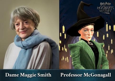 Dame Maggie Smith Minerva McGalagony professzor szerepében a Jam City Harry Potter: Hogwarts Mystery elnevezésű mobiltelefonos játékában (Fénykép: Business Wire)
