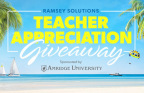 Ramsey Solutions honors teachers and students across the country during National Financial Literacy Month in April with the Teacher Appreciation Giveaway and Financial Literacy Challenge. (Graphic: Business Wire)