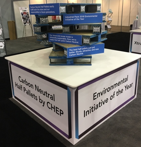 CHEP's Carbon Neutral Half Pallet, winner of the 2018 Industrial Packaging Awards Environmental Init ...