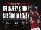 Hannibal Industries Invites You To Meet NFL Free Safety Sharrod Neasman at MODEX 2018 (Graphic: Business Wire)