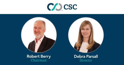 Chairman Robert Berry and Director Debra Parsall help to bolster CSC's Capital Markets Europe team. (Graphic: Business Wire)