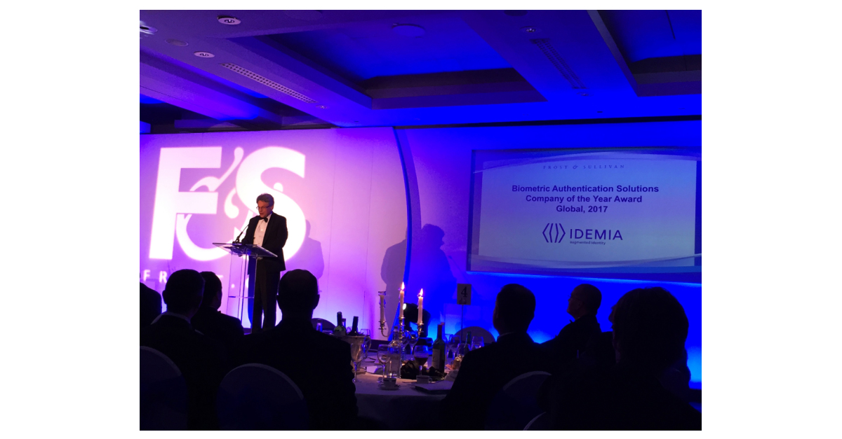 Frost & Sullivan Best Practices Award: IDEMIA Awarded as the