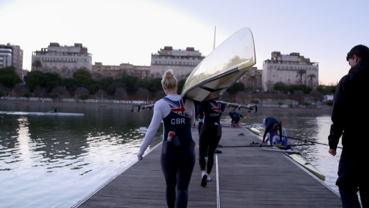 AS and British Rowing Women's Training Camp, Seville, 2018