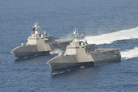 BAE Systems will provide two additional Mk110 Naval Gun Systems for the Independence variant of the U.S. Navy's Littoral Combat Ship under a new contract from General Dynamics. (Photo: U.S. Navy)