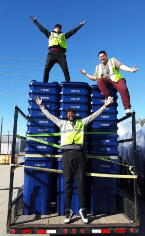 Garland, Texas celebrates completion of citywide cart placement. (Photo: Business Wire)