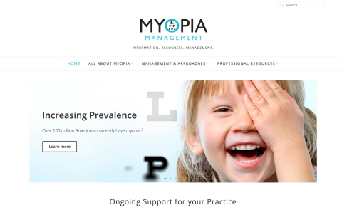 Dr. Thomas Aller, has launched a website, www.ManageMyopia.org, to help busy ECPs learn more and better manage the increasingly common condition. (Photo: Business Wire)