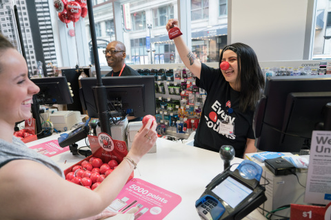 Walgreens team member rings Every One Counts bell. (Photo: Business Wire)