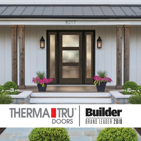 """Therma-Tru Doors celebrates more than 20 consecutive years being named the """"Brand Used Most"""" by builders in the 2018 Builder Brand Use Study. (Photo: Business Wire)"""