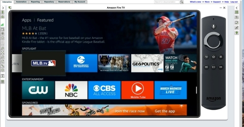 Perfecto's Continuous Quality Lab: Amazon Fire TV (Photo: Business Wire)