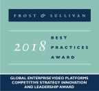 Qumu Wins 2018 Frost & Sullivan Strategy, Innovation and Leadership Award (Graphic: Business Wire).
