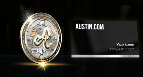 Austin City Crypto-Currency Token (concept) and Custom @Austin.com Email Leasing. (Photo: Business W ...
