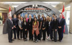 The Hon. Patty Hajdu, Minister of Employment, Workforce Development and Labour, with elected officials and CO-OP students from OPG, introducing Student Jobs Program for the Electricity Sector, at The Darlington Nuclear Information Center. (Photo: Business Wire)