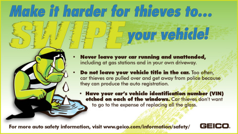 GEICO offers these tips to keep your vehicle safe. (Graphic: Business Wire)