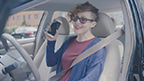 """For Distracted Driving Awareness Month, GEICO has this reminder to share: """"Go mobile anytime, just not in your car."""""""