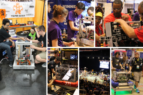 Mouser Electronics will be a major sponsor of the FIRST Championship, April 18–21 in Houston and April 25–28 in Detroit. The annual robotics event, which fosters STEM education, attracts thousands of high school teams from around the world. Photo from 2017 FIRST events. (Photo: Business Wire)