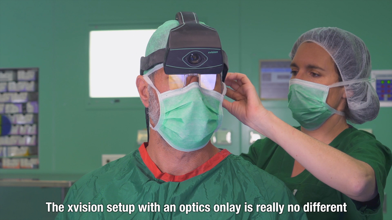 The Augmedics xvision-spine (XVS) augmented-reality surgical navigation system.