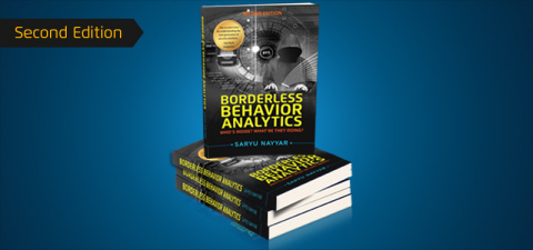 Second edition of Borderless Behavior Analytics - Who's Inside? What're They Doing? by CEO Saryu Nayyar will be released at a special book signing event during the RSA Conference in San Francisco on Wednesday, April 18 at 5:00pm at the Minna Gallery. (Photo: Business Wire)