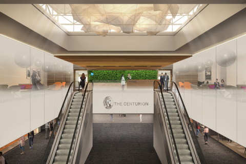 Rendering of the entrance of The Centurion Lounge at DEN (Photo: Business Wire)