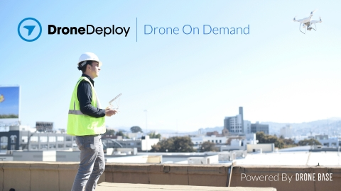 The partnership allows DroneDeploy users across industries such as construction, solar, insurance, and agriculture, to pay $99 to get a drone flight flown by a local certified pilot instead of traveling to a jobsite. (Photo: Business Wire)