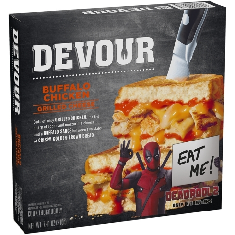 "Deadpool ""Sells Out"" Big Time To Launch New Devour Sandwiches (Photo: Business Wire)"