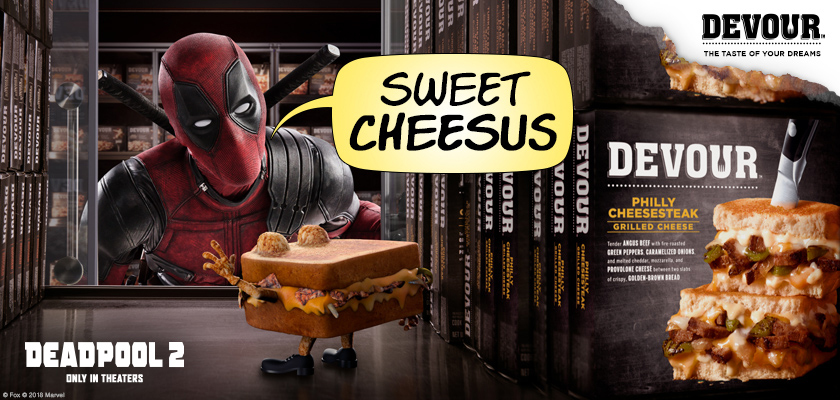 Deadpool Sells Out Big Time To Launch New Devour Sandwiches The