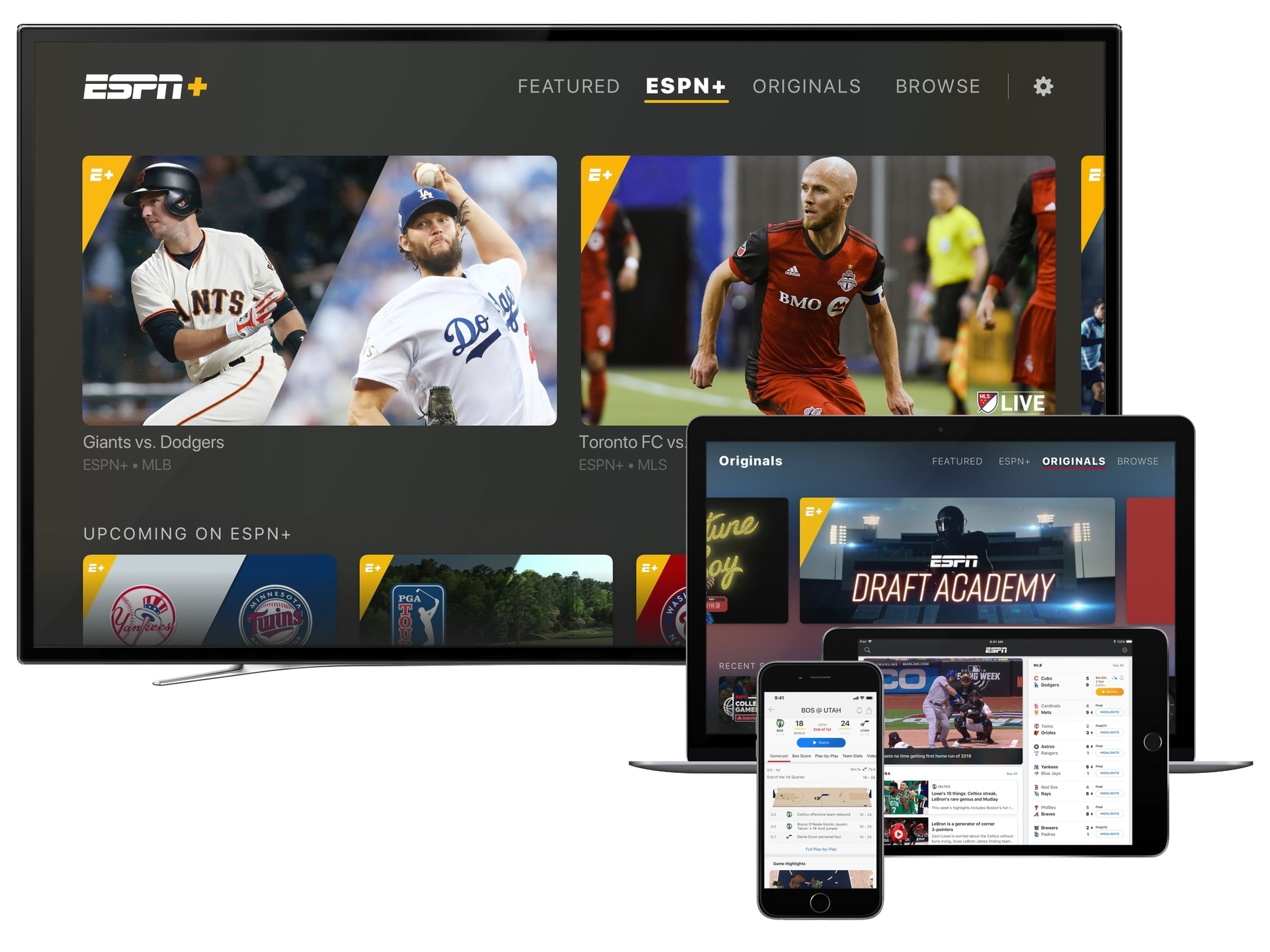 New Re Imagined Espn App With Espn Direct To Consumer Streaming Service Launches To Sports Fans Today Business Wire