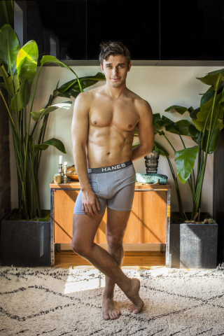 """Whenever I happen to pose contrapposto, I partner w @Hanes and wear my Comfort Flex Fit Boxer Briefs - they keep everything where it should be, comfortably. #Vouchforthepouch w me thru link in bio."" - Antoni Porowski (Photo: Business Wire)"
