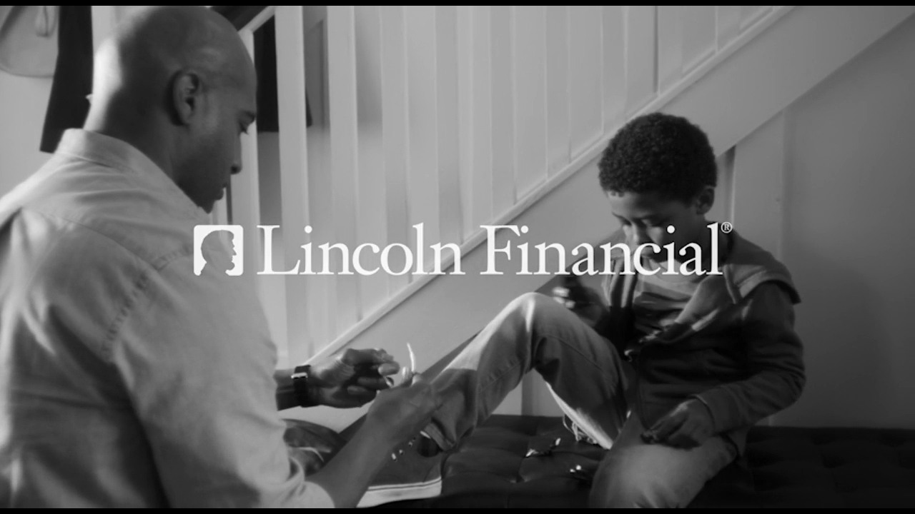 """""""Laces"""": One of Lincoln Financial Group's two new commercials. Who are you responsible for? Whoever it is, Lincoln can help."""