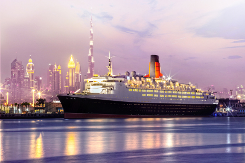 The Queen Elizabeth 2 opens as a floating hotel in Dubai (Photo: AETOSWire)