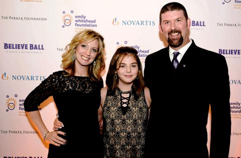 The Whitehead family. From left, Kari Whitehead, Emily Whitehead and Tom Whitehead. (Photo: Emily Whitehead Foundation)