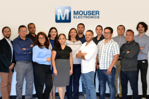 Mouser Electronics employees gather to celebrate the new, expanded customer service center in Guadal ...