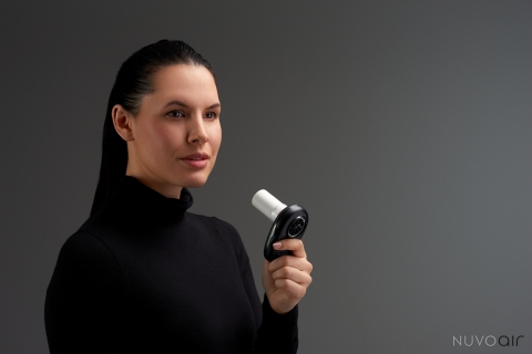 NuvoAir Launches Air Next, Revolutionary New Home Device to Help Those with Serious Lung Conditions (Photo: Business Wire)