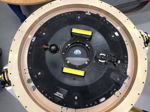 The Orion spacecraft leverages a variant of new Stratasys Antero 800NA to build an intricately-connected 3D printed docking hatch door (Photo: Business Wire)