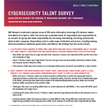 New data from Booz Allen reinforces an urgent and expensive challenge: many organizations do not have the cybersecurity staff in place to fully protect themselves from evolving threats and the associated fallout from serious cyber-attacks affecting IP, sensitive customer data, and business disruption. And, this trend may not end soon – 57 percent believe hiring top cyber talent will only become more difficult over the next five years. This document contains additional key survey findings.