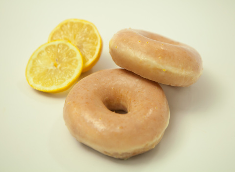 Krispy Kreme Doughnuts Debuts New Lemon Glaze Doughnut. Available for One Week Only, April 23-29. (Photo: Business Wire)