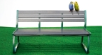 Toshiba's eLumber bench made from plastic parsed from spent toner consumables. (Photo: Business Wire)