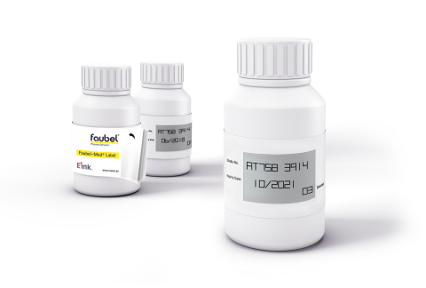 The Faubel-Med® Label is a smart label for investigational medicinal products that uses an E Ink display. (Photo: Business Wire)