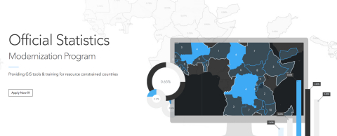 Esri announces the launch of the Esri Official Statistics Modernization Program, in which the company will donate perpetual use licenses for ArcGIS software to eligible official statistical agencies in Least Developed Countries (LDCs) and Small Island Developing States (SIDS). (Graphic: Business Wire)
